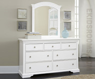 Walnut Street 7 Drawer Dresser White | NE Kids Furniture | NE8500