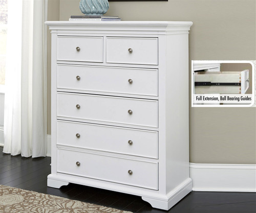 walnut street 6 drawer chest white ne kids furniture ne8520