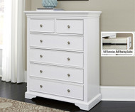 Walnut Street 6 Drawer Chest White | NE Kids Furniture | NE8520