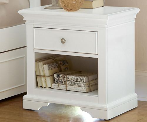 Walnut Street Power/Light Nightstand White | NE Kids Furniture | NE8530