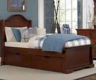 Walnut Street Morgan Twin Panel Bed with Trundle Chestnut | NE Kids | NE9010-9560