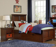 Walnut Street Devon Twin Panel Bed with Trundle Chestnut | NE Kids | NE9020-9560