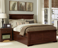 Walnut Street Devon Full Panel Bed with Trundle Chestnut | NE Kids | NE9025-9560