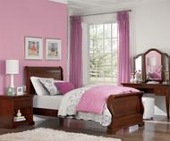 Walnut Street Riley Sleigh Bed Chestnut   NE Kids   NE9030