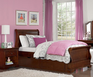 Walnut Street Riley Sleigh Bed with Trundle Chestnut | NE Kids | NE9030-9560
