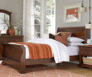 Walnut Street Full Size Riley Sleigh Bed Chestnut | NE Kids | NE9035