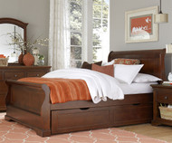 Walnut Street Riley Full Sleigh Bed with Trundle Chestnut | NE Kids | NE9035-9560
