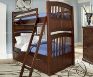 Walnut Street Hayden Bunk Bed Chestnut | NE Kids | NE9051
