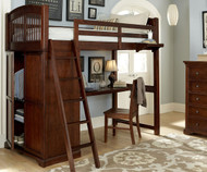 Walnut Street Locker Loft Bed with Desk Chestnut | NE Kids | NE9060-DESK