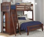 CLEARANCE Walnut Street Twin over Full Locker Loft Bed Chestnut | NE Kids | NE9060-LWB-SD