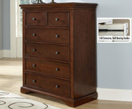 Walnut Street 6 Drawer Chest Chestnut Finish | NE Kids Furniture | NE9520