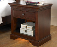 Walnut Street Power/Light Nightstand Chestnut | NE Kids Furniture | NE9530