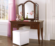 Walnut Street Vanity Desk Chestnut | NE Kids Furniture | NE9540-9545