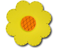 Satin Yellow Lolli Flower Drawer Pull | One World | OW-DP32044