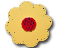 Yellow Lolli Flower Drawer Pull | One World | OW-DP32531