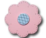Pastel Pink Lolli Flower Drawer Pull | One World | OW-DP33532