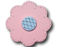 Pastel Pink Lolli Flower Drawer Pull | One World | OW-DP33532
