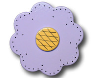 Pastel Purple Lolli Flower Drawer Pull | One World | OW-DP34562