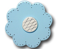 Pastel Blue Lolli Flower Drawer Pull | One World | OW-DP39560