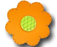 Satin Orange Lolli Flower Drawer Pull | One World | OW-DP44072