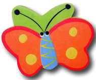 Orange Butterfly Drawer Pull | One World | OW-DP505
