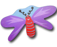 Purple Dragonfly Drawer Pull | One World | OW-DP517