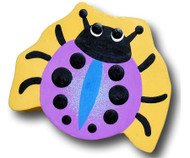 Purple Lady Bug Drawer Pull | One World | OW-DP527