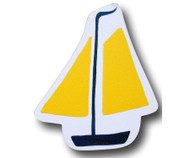 Yellow Sail Boat Drawer Pull | One World | OW-DP542