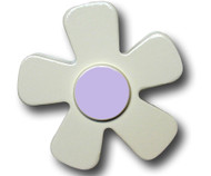 Pastel White Daisy Drawer Pull 2 | One World | OW-DP584