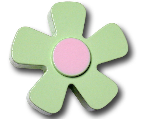 Pastel Green Daisy Drawer Pull | One World | OW-DP586