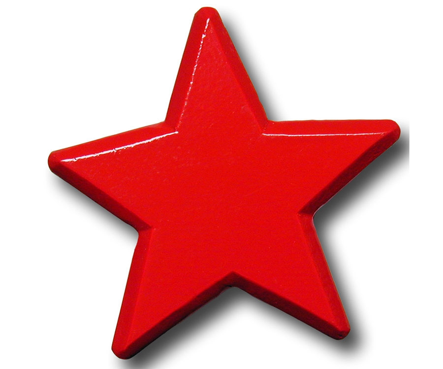 One World Red Star Drawer Pull Decorative Knobs Kids