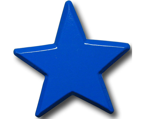 One World Blue Star Drawer Pull Decorative Knobs Kids