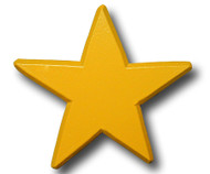 Yellow Star Drawer Pull | One World | OW-DP610