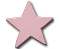 Pastel Pink Star Drawer Pull | One World | OW-DP612