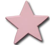 Pastel Pink Star Drawer Pull | One World | OW-DP612