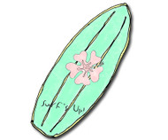 Maui Wowie Girl Surf Board Drawer Pull | One World | OW-DP638