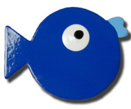 Blue Puffer Fish Drawer Pull   One World   OW-DP641