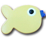 Yellow Puffer Fish Drawer Pull | One World | OW-DP643
