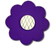Satin Dark Purple Lolli Flower Drawer Pull | One World | OW-DP74036