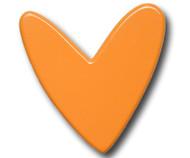 Orange Heart Drawer Pull | One World | OW-DP779