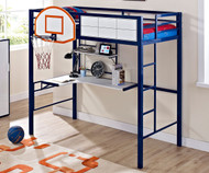 Hoops Basketball Loft Bed | Powell Furniture | PW-14Y2002BB