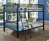 Heavy Metal Full over Full Bunk Bed - Black | Powell Furniture | PW938-137