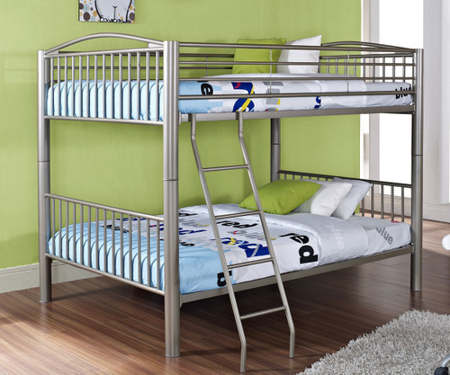 Heavy Metal Full Over Full Bunk Bed   Pewter | Powell Furniture | PW941 137