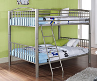 Heavy Metal Full over Full Bunk Bed - Pewter | Powell Furniture | PW941-137