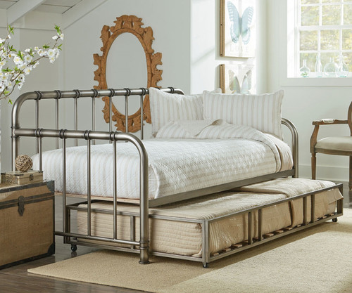 Tristen Daybed With Trundle In Pewter Finish 87500