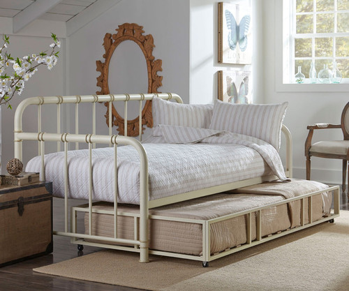 Tristen Daybed With Trundle In White Finish 87550