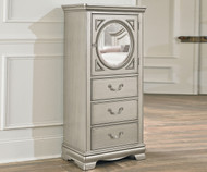 Jessica Lingerie Chest with Looking Glass Silver | Standard Furniture | ST-93565