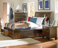 CLEARANCE Cameron Storage Sleigh Bed Twin Size | Standard Furniture | ST-940515253-SD2