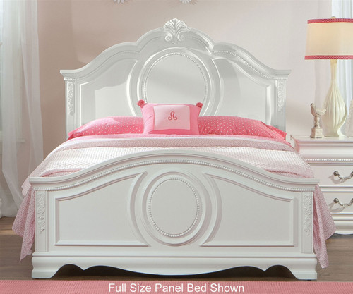 Standard furniture jessica twin size panel bed girls for Girls white twin bed