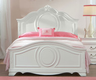 Jessica Panel Bed Full Size White | Standard Furniture | ST-942110213